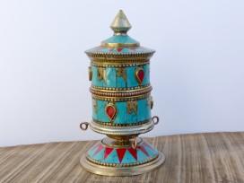 RP112 Roue à Prières Tibétaine Mantra