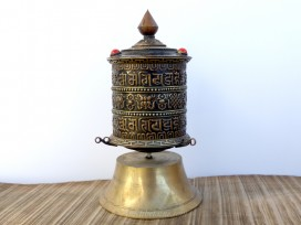 RP113 Roue à Prières Tibétaine Mantra Astamangala