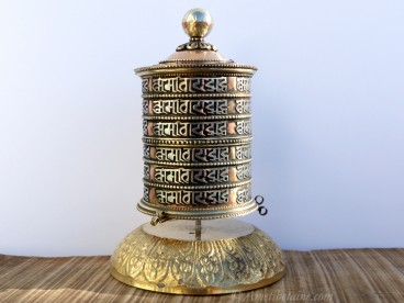 RP117 Roue à Prières Tibétaine Mantra