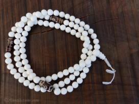 Mala126 Mala de Prières Conque Perles Dzi