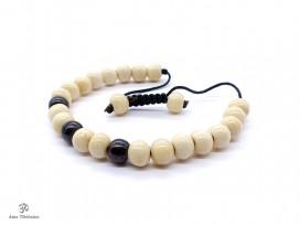 BrMala129 Bracelet Mala Os de Buffle