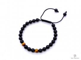 BrMala249 Bracelet Onyx Oeil de Tigre