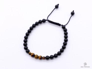 BrMala281 Bracelet Onyx Oeil de Tigre