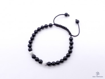 BrMala287 Bracelet Onyx Howlite