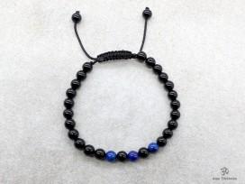 BrMala285 Bracelet Onyx Lapis Lazuli. 21 cm