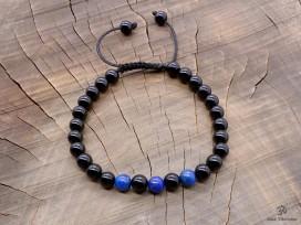 BrMala285 Bracelet Onyx Lapis Lazuli