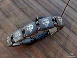 BRD375 Bracelet Tibétain Yeux de Bouddha