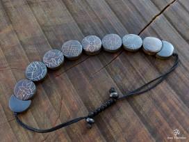 BRD376 Bracelet Tibétain Signes Auspicieux Petit Poignet