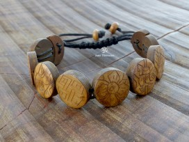 BRD377 Bracelet Tibétain Signes Auspicieux Petit Poignet