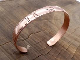 BRD389 Bracelet Tibétain Cuivre Om