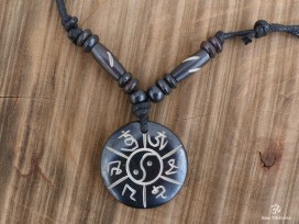 CD162 Collier Tibétain Mantra Noeud Sans Fin