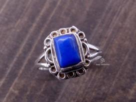 BA25 Bague Tibétaine Argent Massif Lapis Lazuli