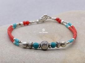 BRD280 Bracelet Tibétain 17,5 cm