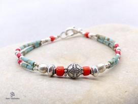 BRD317 Bracelet Tibétain 18,5 cm