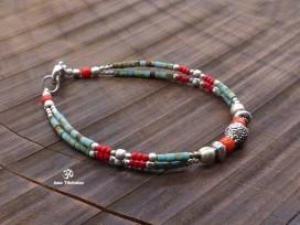BRD317 Bracelet Tibétain 21 cm
