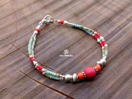 BRD321 Bracelet Tibétain 20 cm