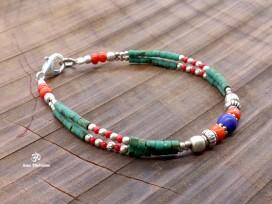 BRD334 Bracelet Tibétain 18 cm