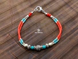 BRD334 Bracelet Tibétain 17,5 cm