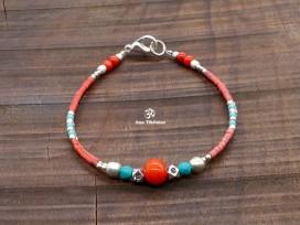 BRD401 Bracelet Tibétain 17,5 cm