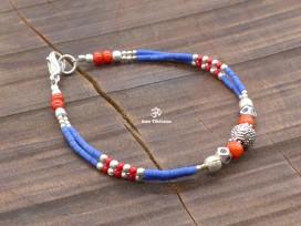 BRD406 Bracelet Tibétain 17,5 cm