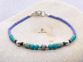 BRD407 Bracelet Tibétain 19 cm