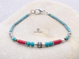 BRD404 Bracelet Tibétain 18,5 cm