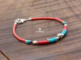 BRD409 Bracelet Tibétain 17,5 cm