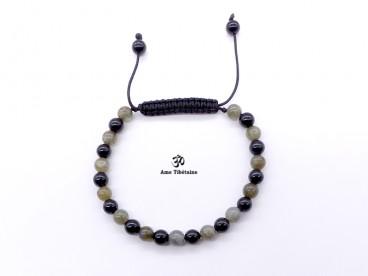 BrMala276 Bracelet Onyx Labradorite