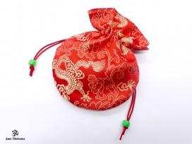 PochTib53 Pochette Tibétaine pour Mala