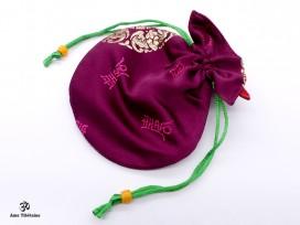 PochTib93 Petite Pochette Tibétaine pour Mala