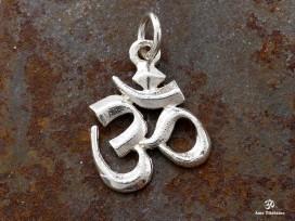 PA22 Petit pendentif Argent Massif Om Sanskrit