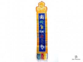 BB36 Bannière Tibétaine Mantra Om Mani Padme Hum