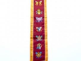 BB40 Bannière Tibétaine Signes Auspicieux du Bouddhisme