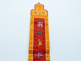 BB57 Bannière Tibétaine Mantra Om Mani Padme Hum