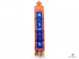 BB59 Bannière Tibétaine Mantra Om Mani Padme Hum