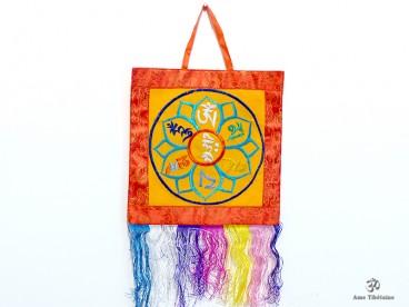 BB75 Bannière Tibétaine Mantra Om Mani Padme Hum