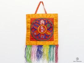 BB81 Bannière Tibétaine Mantra Om Mani Padme Hum