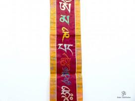 BB80 Bannière Tibétaine Mantra Om Mani Padme Hum