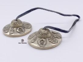 Cymbale5 Cymbale ou Tingsha Tibétaine Signes Auspicieux du Bouddhsime