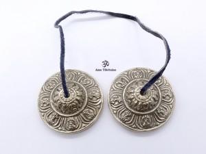 Cymbale7. Cymbale ou Tingsha Tibétaine Dorje Vajra
