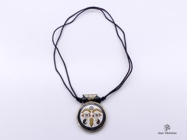 CD182 Collier Tibétain Yeux de Bouddha Om