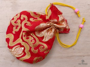 PochTib81 Petite Pochette Tibétaine pour Mala