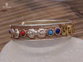 BRD153 Bracelet Tibétain Mantra Om Mani Padme Hum