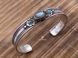 BRD254 Bracelet Tibétain Onyx