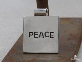 PA413 Pendentif Tibétain Argent Massif SHANTI PEACE Paix