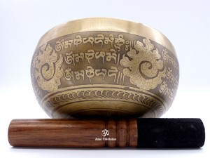 BC89 Bol Chantant Mantra Yeux de Bouddha