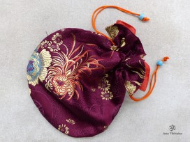 PochTib114 Pochette Tibétaine pour Mala