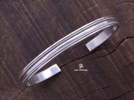 BRA21 Bracelet Tibétain Argent Massif