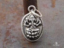 PA293 Pendentif Argent Massif Ganesh, Le dieu hindou à la tête d'éléphant