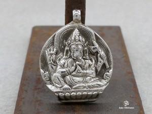 PA201 Pendentif Argent Massif Ganesh, Le dieu hindou à la tête d'éléphant